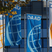 Flags in front of the DAAD head quarters in Bonn